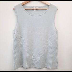 St. John Collection Cashmere Sleeveless Top (L)